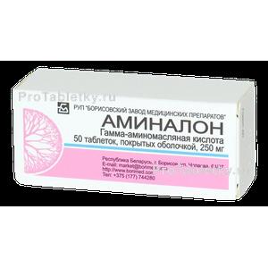 Аминалон — инструкция по применению