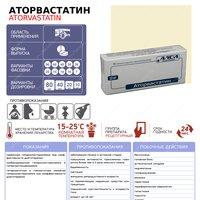 Аторвастатин - инфографика (таблетка)