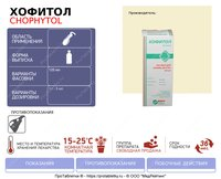 Хофитол - инфографика (флакон)