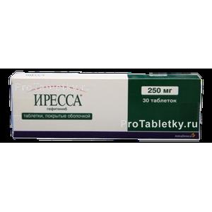 Иресса – инструкция по применению таблеток, цена, отзывы, аналоги